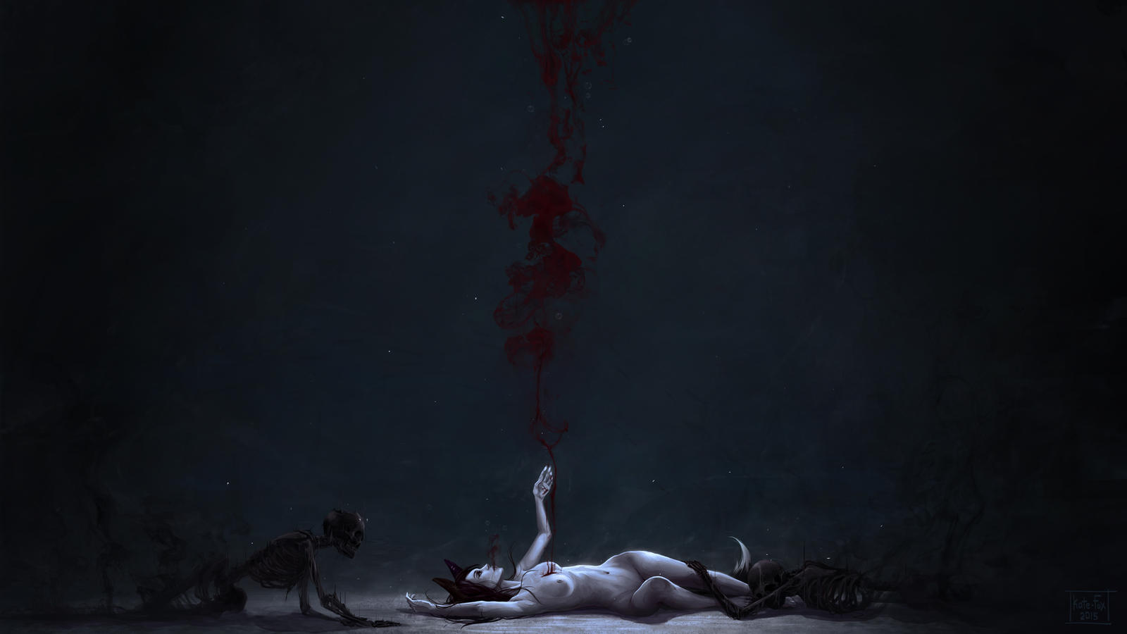 Die, little fox by Kate-FoX