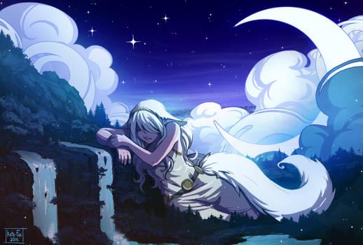 Goddess in sorrow