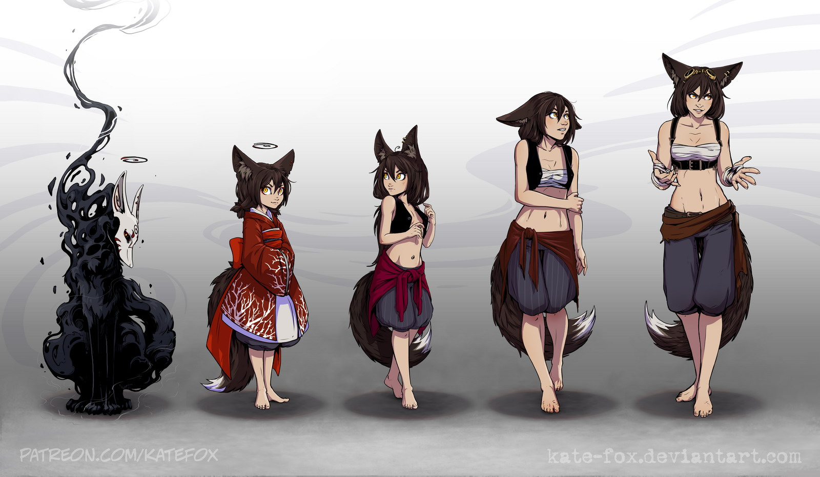 Evolution by Kate-FoX on DeviantArt