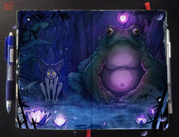 Moleskine: Magical pond