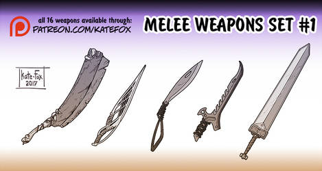 Weapons set 1 by Kate-FoX