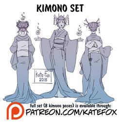 Kimono poses set