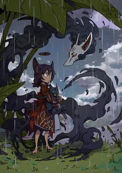 Three wet tails