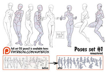 Pose study 1 REMASTERED by Kate-FoX