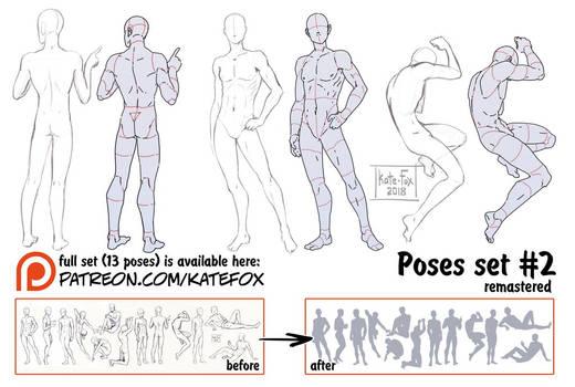 Pose study 2 REMASTERED