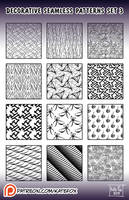 decorative patterns #3 for Photoshop by Kate-FoX