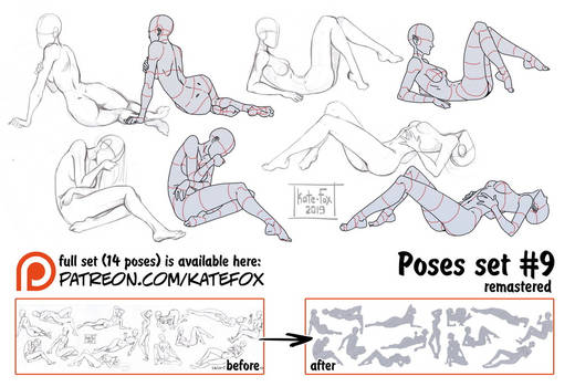 Pose study 9 REMASTERED