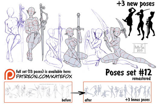 Pose study 12 REMASTERED