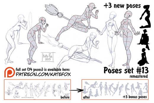 Pose study 13 REMASTERED
