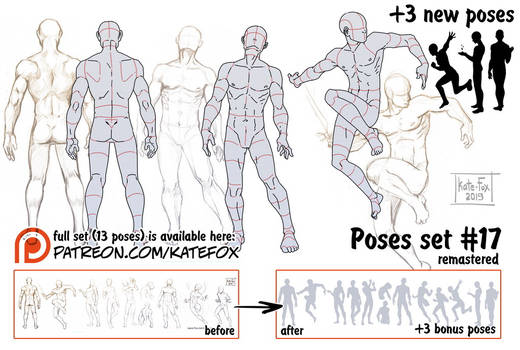 Pose study 17 REMASTERED