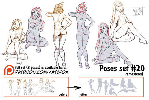 Pose study 20 REMASTERED
