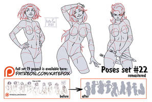 Pose study 22 REMASTERED