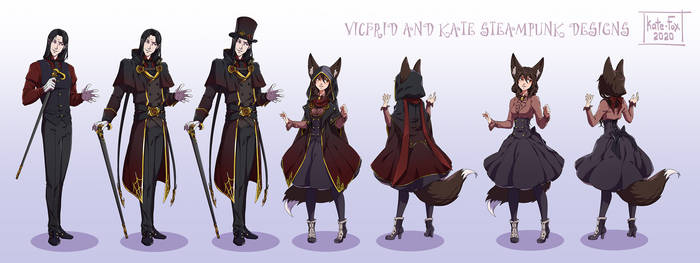 Vicfrid and Kate Steampunk designs