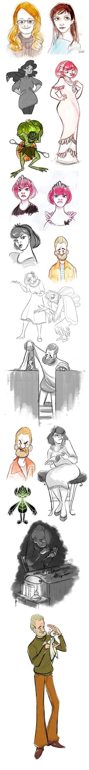 Doodles IV by sparrowbirdd