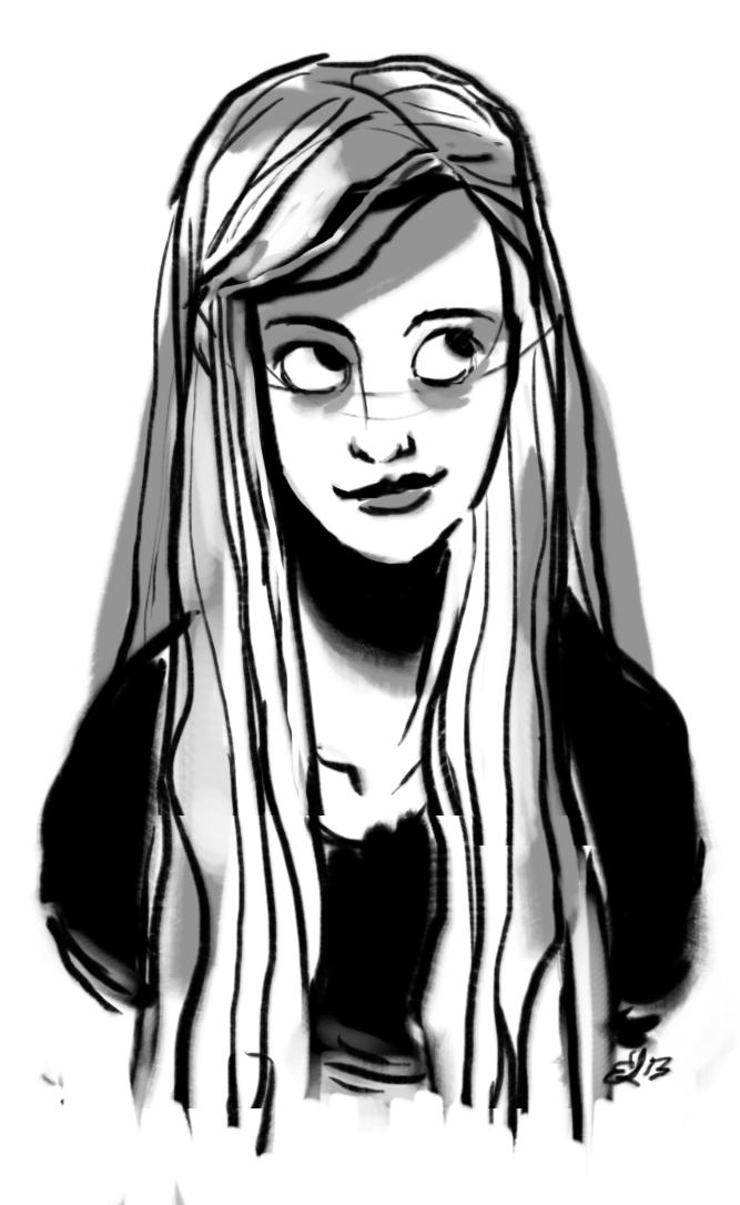 A face by sparrowbirdd