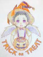 Little Castiel in Halloween by ILsama