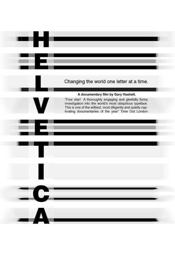Helvetica Movie Poster 1 by Ltflak