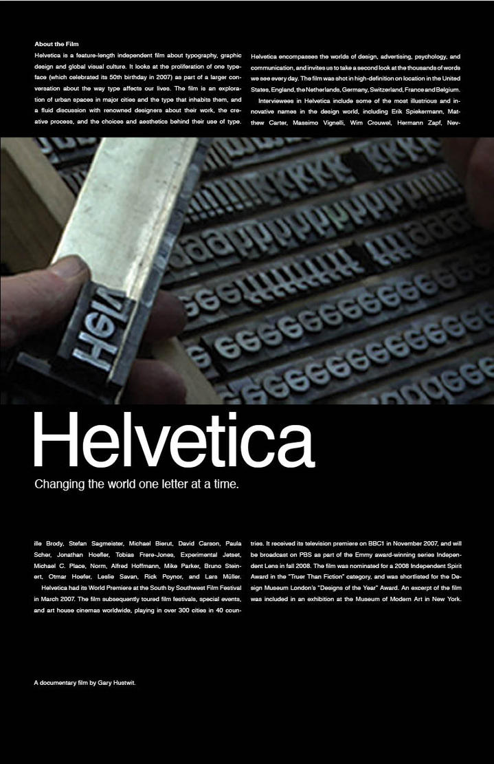 Helvetica Movie Poster 2 By Ltflak