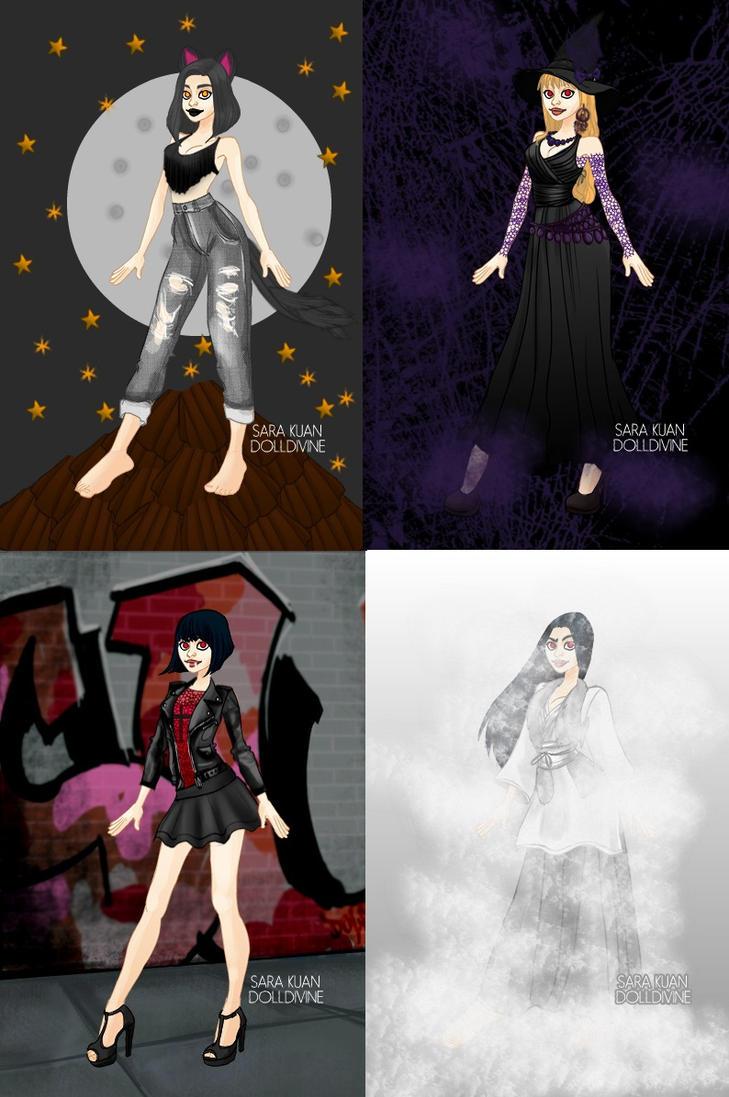 Halloween girls by eeveelovestory5