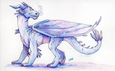 Contest Entry: Crystalline Dragoness by JcArtSpace