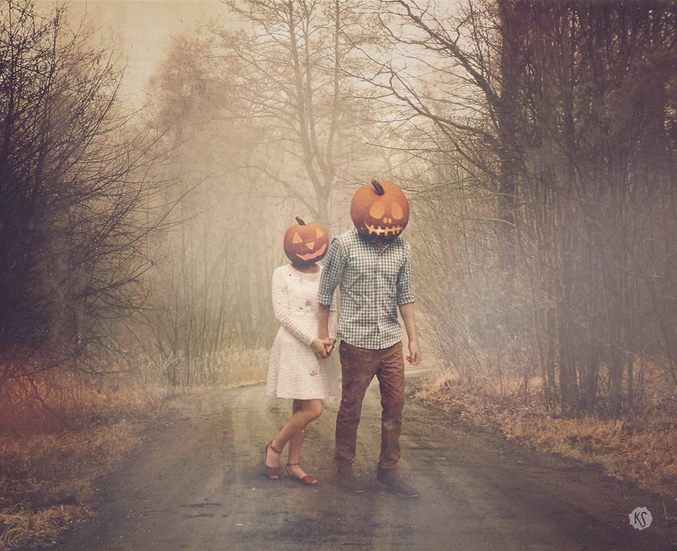 Pumpkins In Love by KerenStanley