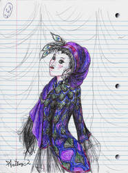 Girl in a Peahen Raiment by artboy-2