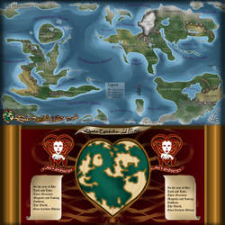 Ace of Hearts Map and Cordiform PNG