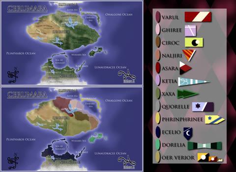 Cerumara Atlas Political Map Large UPDATED