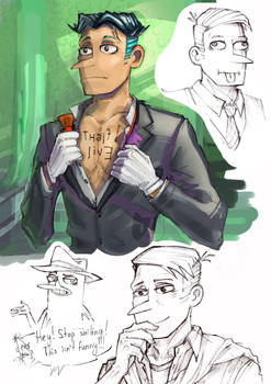 Perry the Platypus 2 (Human)- Phineas and Ferb