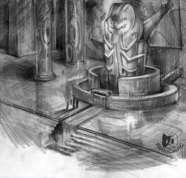 Pray for Cthulhu (Sketch) by RoboCat-RC