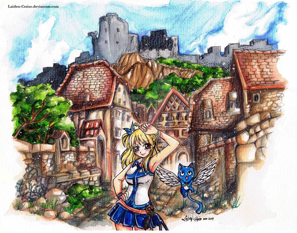 In the Old Town: Lucy Heartfilia and Happy