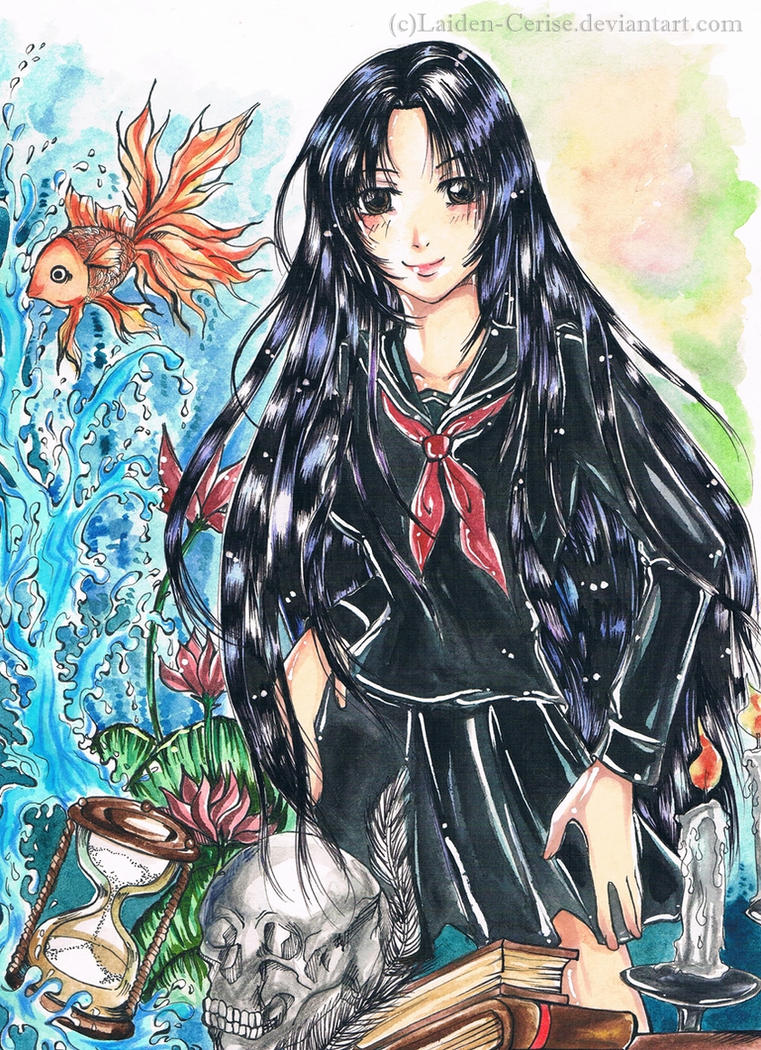 Erin in middle school uniform by Laiden-Cerise