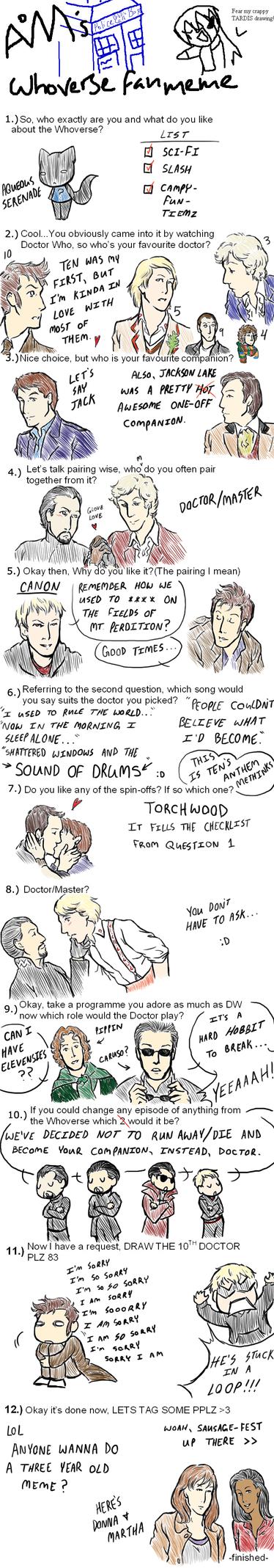 Doctor Who Meme by AqueousSerenade