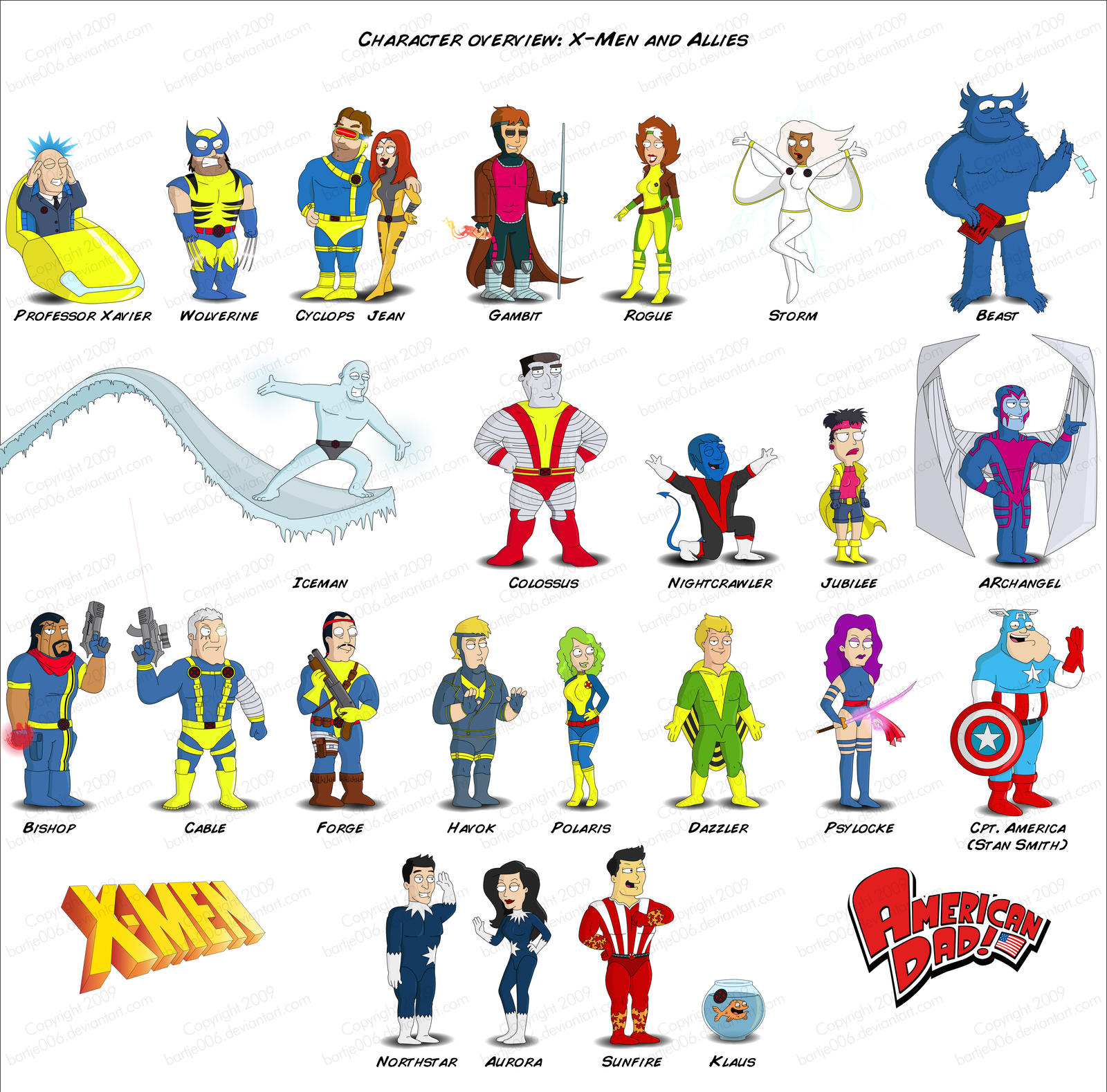 American dad all characters