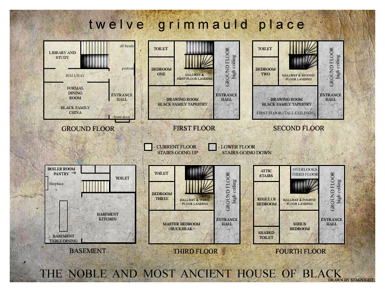 grimmauld floor plans by stagnight on deviantart