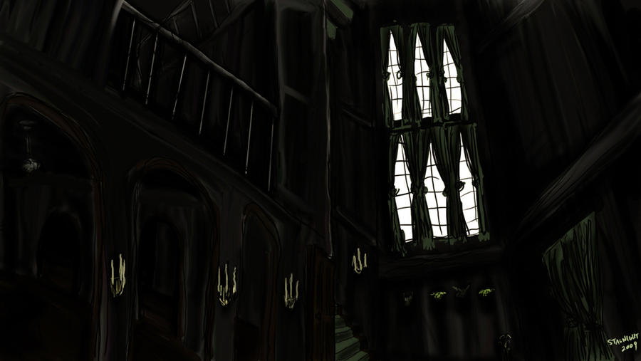 Grimmauld entrance hall by stagnight on deviantart for 12 grimmauld place floor plan