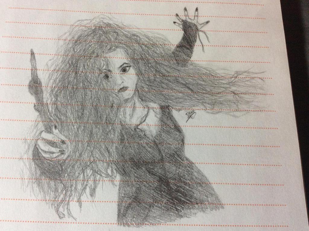 Bellatrix Lestrange Sketch by crystalwolfpaws