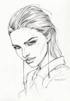 Pencil sketch 1 by AntarcticSpring