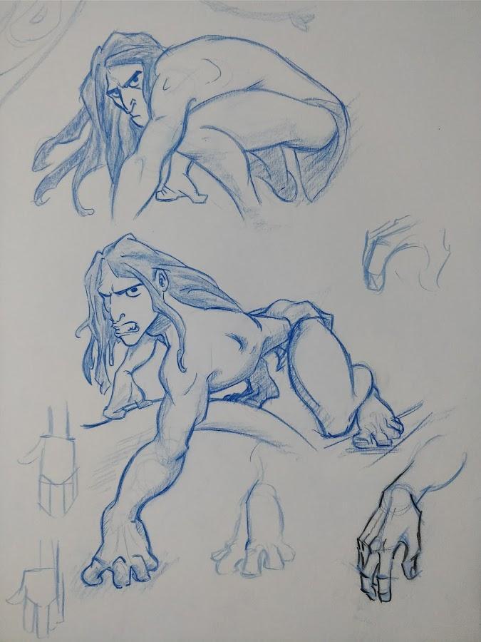 Tarzan Sketch by fontanemmanuel