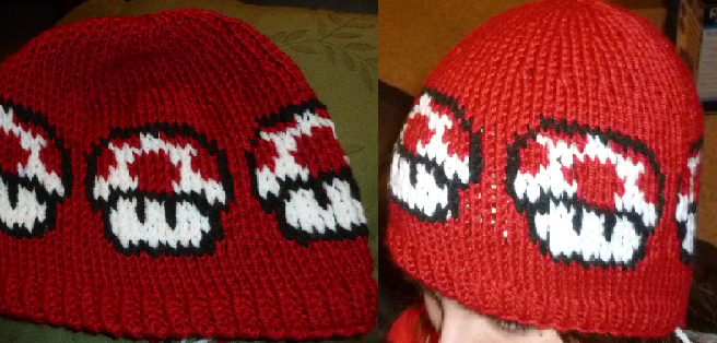 Mario Knitting Pattern : Knitted Mario Mushroom Hat by prezofxms on DeviantArt