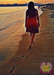 Walking down the Beach by Lemontoes