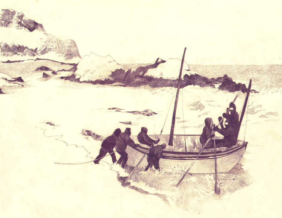 Antarctic Expedition 1914 by drawingsbycharlotte