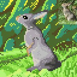 Rabbit pixelart