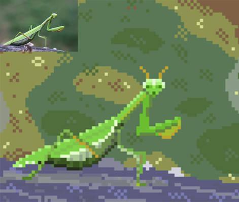 Mantis pixelart