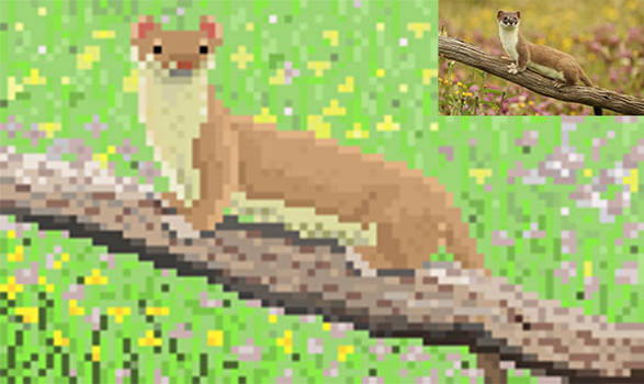 Stoat Kit pixelart