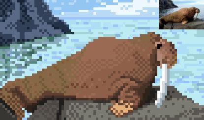 Walrus pixelart