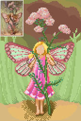 Yarrow Fairy pixelart