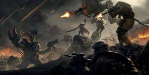 Imperial Guard vs Ork on Praetoria