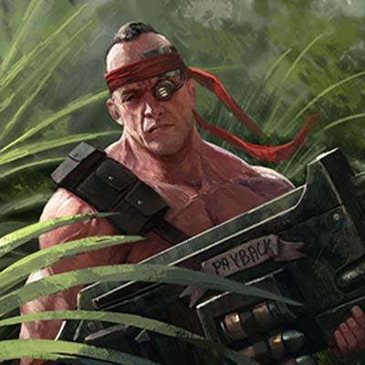 Sergeant Harker 2nd Catachan jungle fighter by warhammer40kcampaign