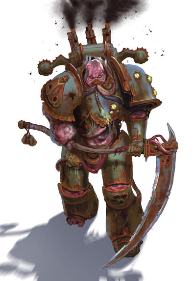 Death Guard marine of Apostle of Contagion by warhammer40kcampaign